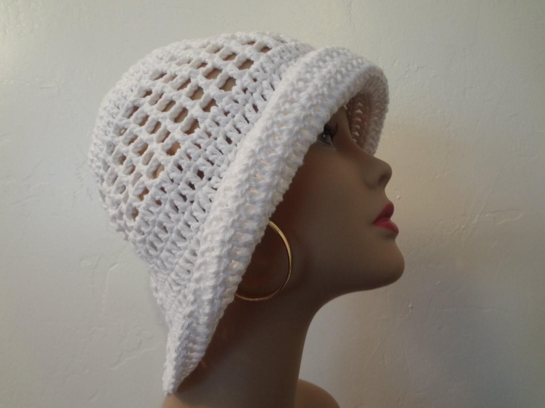 Stylish Sun Hat White Cotton Floppy Sun Hat Ladies Summer