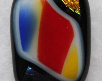 Fused glass pendant (6)