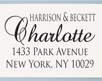 Custom Personalized Return Address Rubber Stamp AS21