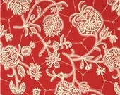 Fabric by the Yard - Amy Butler Lark Dreamer Souvenir Persimmon Red