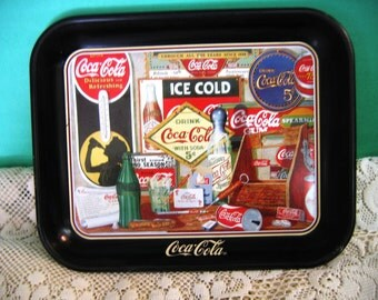 "Vintage Coca-Cola Tray Limited Edition ""Through The Years"" By Sandra Porter"