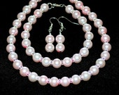 Blush Pink Pearl Bridal Set jewelry