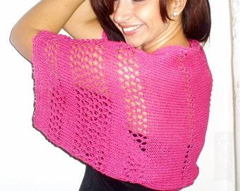 Bolero, sleeves, knitted bolero, elegant knit  bolero, cotton and silk sleeves, crochet summer  vest, cardigan
