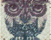 Egyptian Owl Peyote Stitch Bracelet Pattern