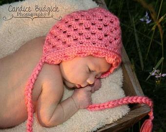 PATTERN Vintage Bonnet with Scallop Edge - Crochet - Hat