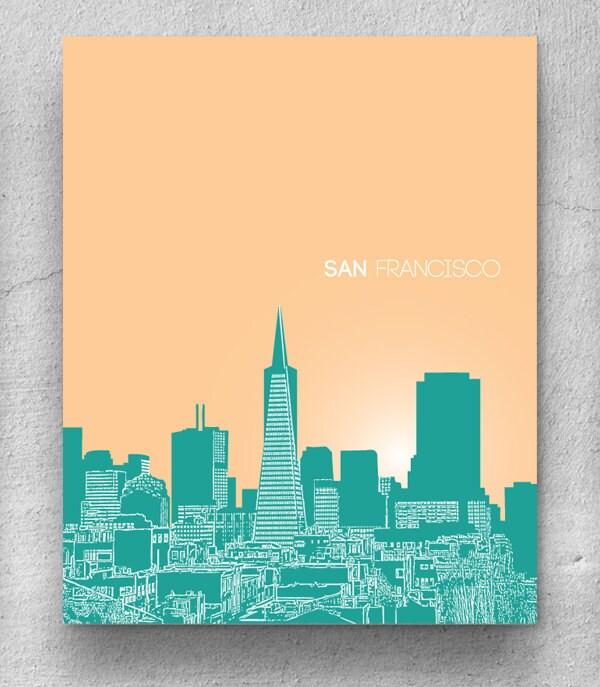 San Francisco Skyline Line Drawing