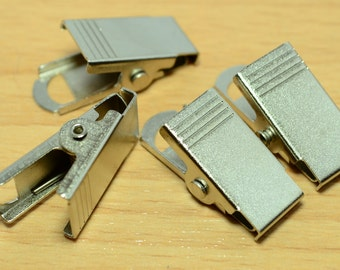 10 Pieces  30X12  mm Metal  Badge  ID  Holder Clips