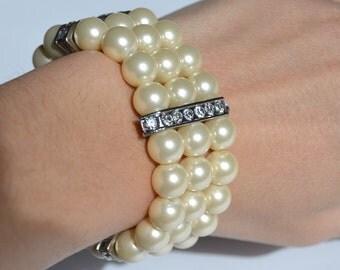 2 Bride-pearl bracelet bracelets
