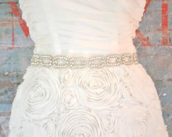 Crystal Wedding Sash, Wedding Sash, Bridal Belt, Bridal Sash, Crystal Sash, Crystal Belt, Beaded Sash, Rhinestone Sash, Sash - HUTTON