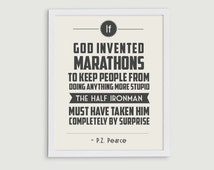 70.3 Half Ironman Triathlon Retro Print - Sports Quote Art - Triathlete Gift