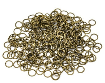 100 (6g) - 6mm Antique Bronze Jump Rings