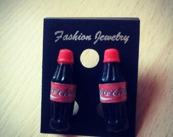 Cola bottle stud earrings