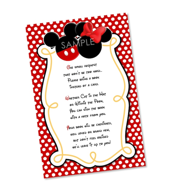 Mickey Mouse Baby Shower Invitation Wording with luxury invitation example