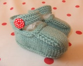 Hand knitted MaryJane baby shoes    Available in sizes 03 36 and 69 months