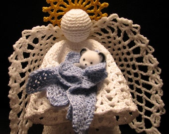 Tree Topper Angel Figurine Crystal Pineapple Design