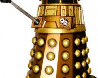 Dr. Who Gold Dalek Sticker