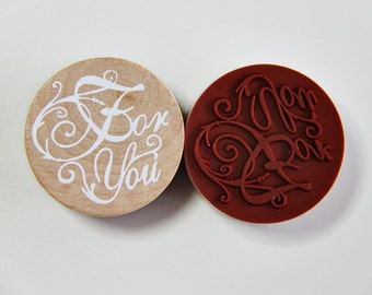For You - Vintage Style Message Rubber Stamps.- Scrapbooking. Cardmaking. Tag Making