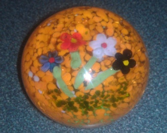 Vintage Glass Paperweight