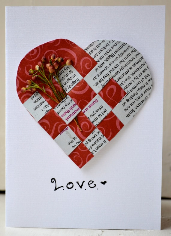 Items similar to Love handmade greeting card on Etsy