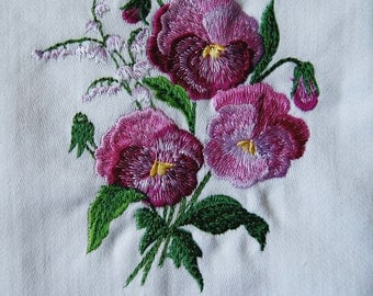 Set 2 ,Pansies Flowers Kitchen Towels Collection