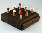 Handmade Wooden Tic Tac Toe Game