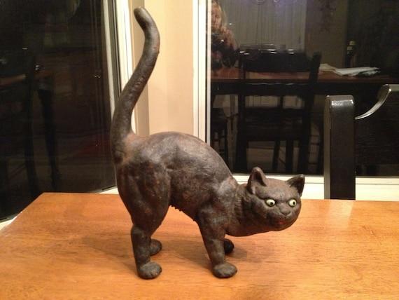 Cast iron black cat doorstop - Cast iron cat doorstop ...