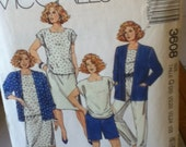 "McCall's Vintage Skirt, Pants, Unlined Jacket, Top and Shorts Pattern 3608 Size 20 1/2-24 1/2, Bust 43""-47"", Waist 37""-42"", Hip 45""-50"""