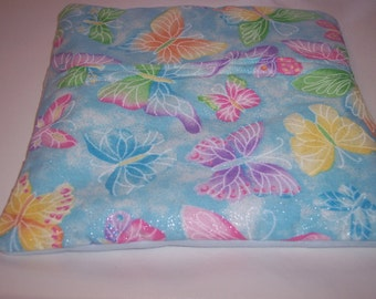 Butterflies,Pastel Colors,  Microwave potato bag, Tortilla Warmer, Corn on the Cob Bag, Sweet Potato Cooking Bag