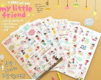 My Little Friends Sticker - 6 Sheets