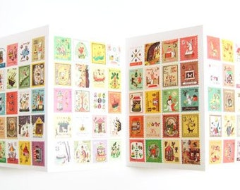 Stamp Stickers - 4 Sheets
