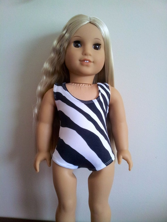 Zebra print Bathing suit for American Girl