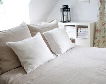 SALE  Linen bedding - 5 pcs, King size duvet cover and pillow cases, natural prewashed linen