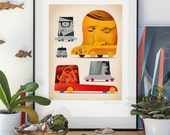 Social Classes. Illustration art giclée print signed by artist Pawel Jonca (me). A2 poster.