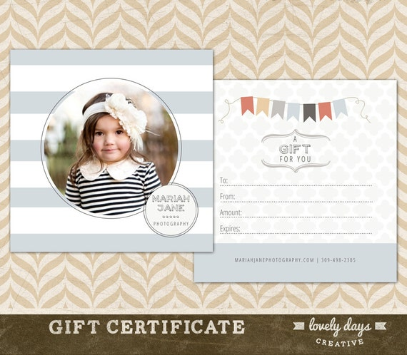 Photography Gift Certificate Template For Photographers