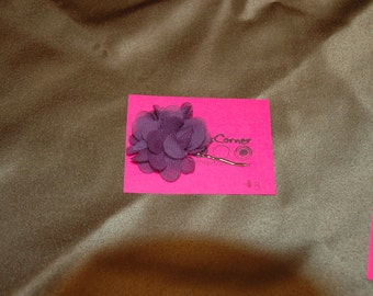 Purple Floral Bobby Pin - One Pin