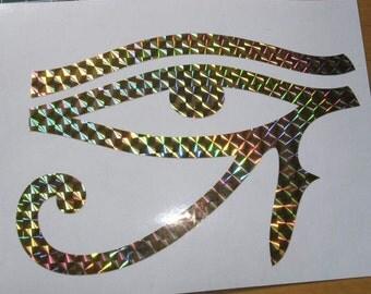Gold Eye of Ra Sticker,  Ankh Gold Sparkle, or Sparkle Blue Scarab