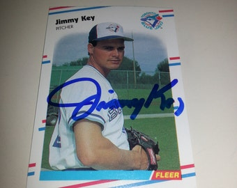 Jimmy Key Autograph Card
