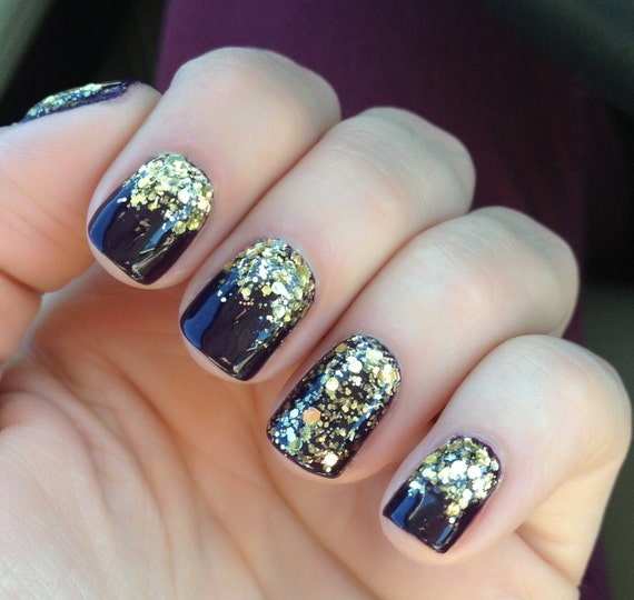 40% OFF - All Gold Everything - Gold Glitter Nail Polish