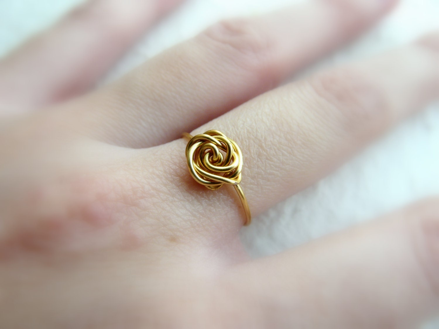 charm ring gold filled ring dainty ring rose ring delicate. Black Bedroom Furniture Sets. Home Design Ideas