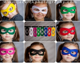 Custom Superhero Mask, Reversible Super Hero Mask, Choose any Color Combination
