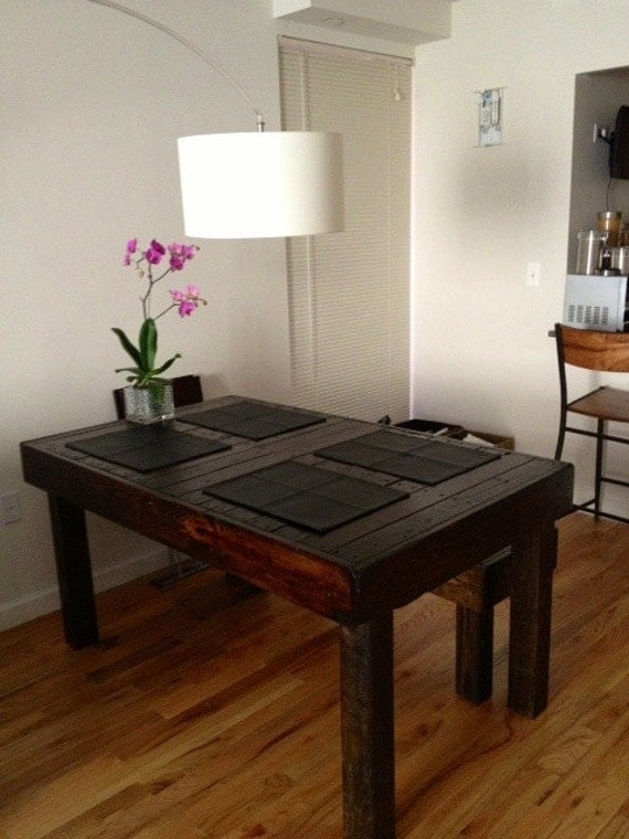 Reclaimed Pallet Wood Dining Table Upcycled By