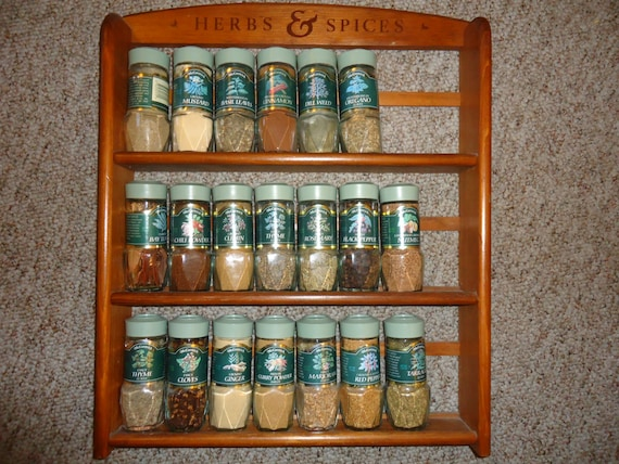 Vintage Spice Rack Mccormick Herbs Amp Spices Dark Wood Holds 24