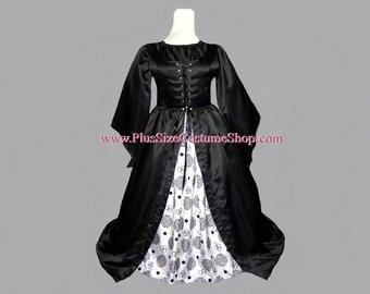 CELTIC Irish Overdress RENAISSANCE Gown Dress Plus Size Halloween Costume Adult Womens Size 1X 2X 3X 4X 5X - 3 pcs New