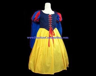 SNOW WHITE Princess Plus Super Size Halloween Costume Adult Womens Size 6X 7X - 4 pcs New