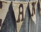 2.50 per letter, Custom burlap banner bunting, choose colors/words/symbols