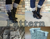2 Patterns in 1 - Boot Cuffs - Two Styles - Teen to Adult Size
