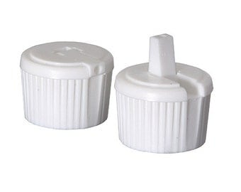 White 24/410 Turret Top Dispensing Cap - 10 Pack