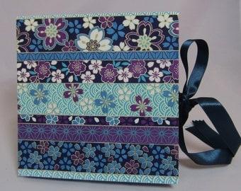 Handmade Starbook Photo Album- Stripes and Flowers