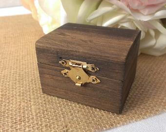 rustic wedding ring box, wooden ring box