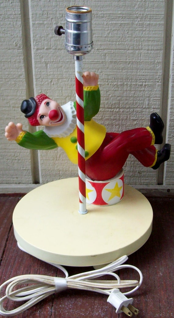 Vintage Nursery Originals Inc Clown Desk Lamp By